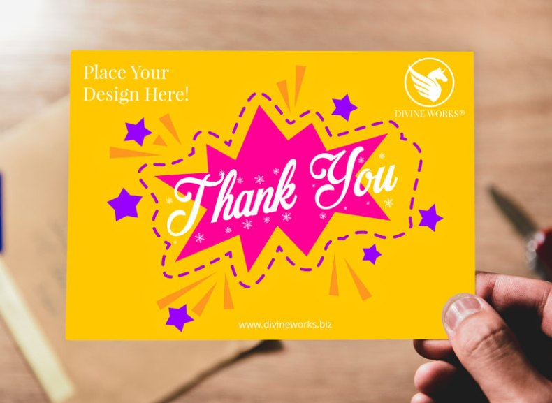 Free Postcard In Hand Mockup by Divine Works