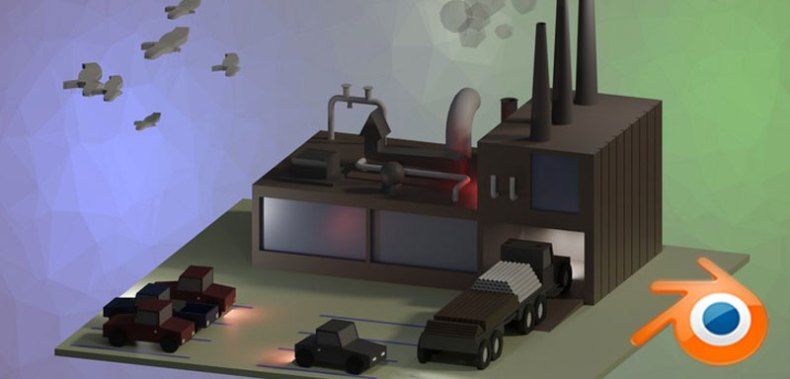 Blender 2.8 For Beginners Create a Low-Poly Factory