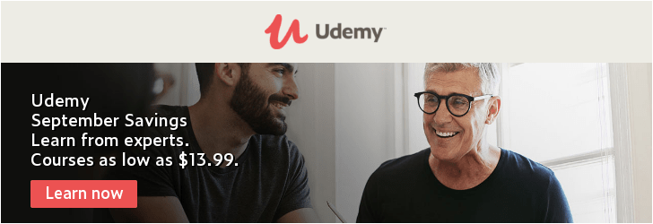 Udemy Back To School Promotion