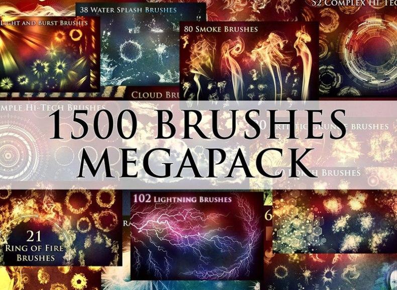 1500+ Brushes Megapack