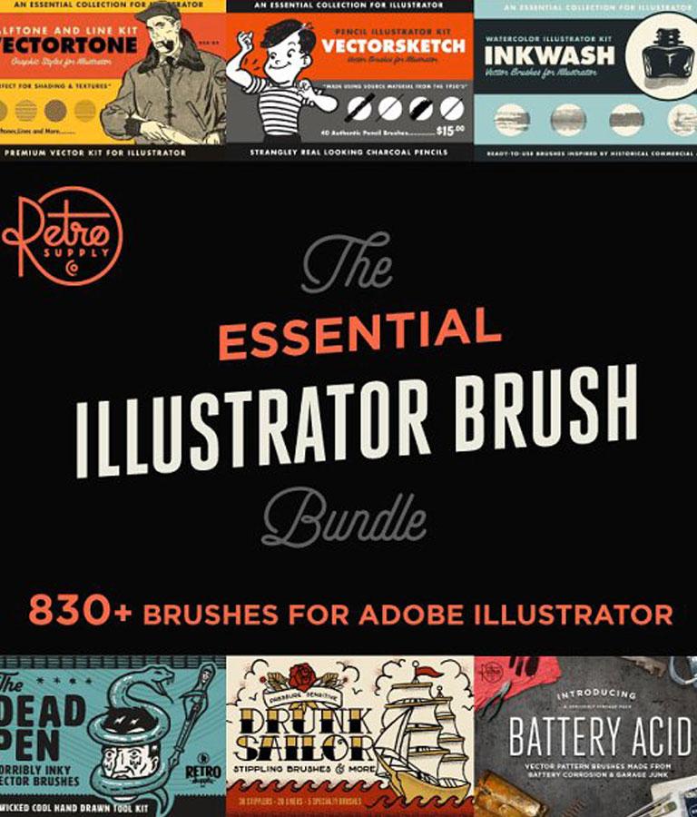Essential Illustrator Brush Bundle
