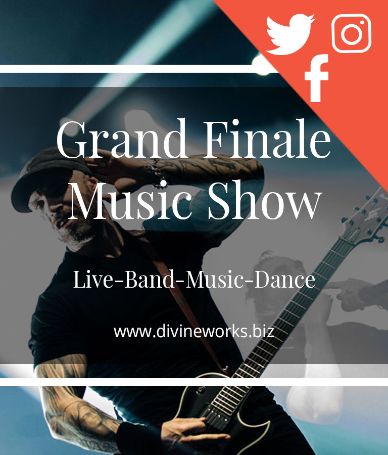 Free Music Show Social Media Template Set