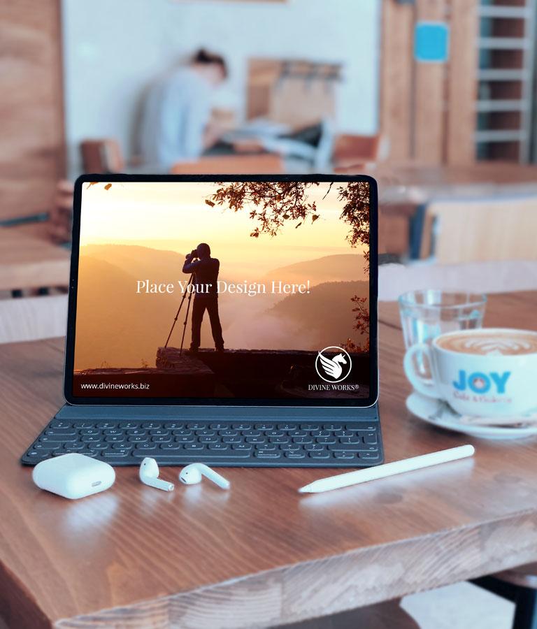 iPad With Keyboard Mockup