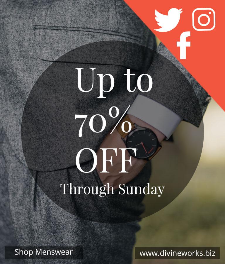 Menswear Social Media Template Set
