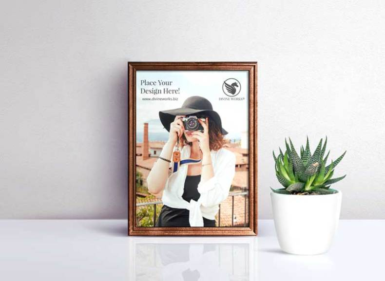 Download Free Picture Frame PSD Mockup by Divine Works