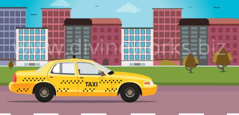 Download Free Taxi Vector Illustration by Divine Works