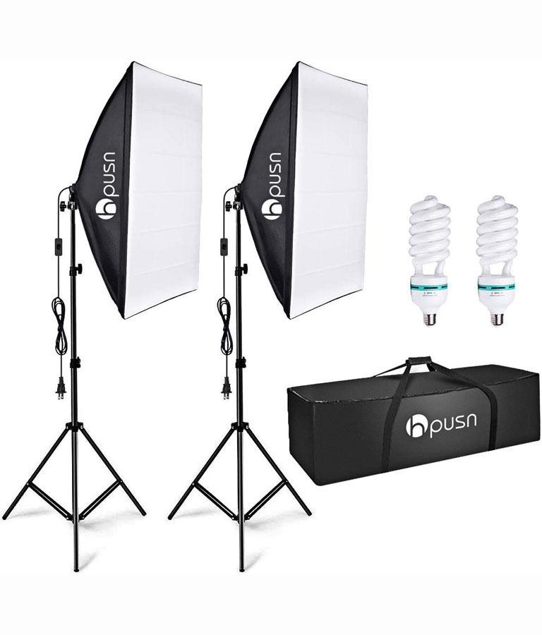 HPUSN Softbox Lighting Kit Professional Studio