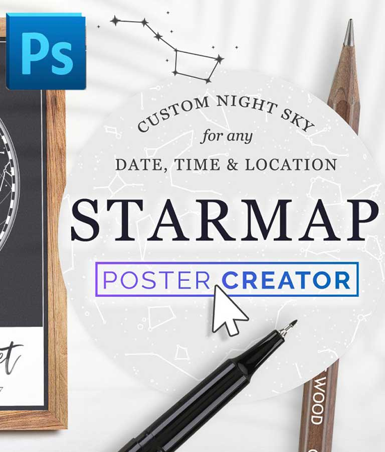 Star Map Poster Creator Minimal
