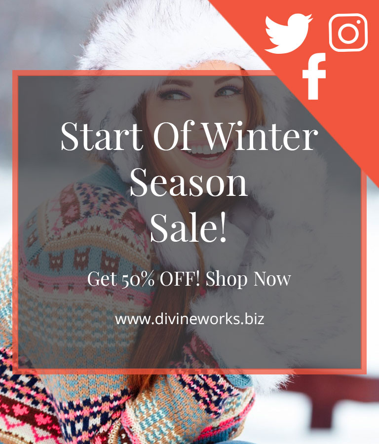 Winter Sale Social Media Template