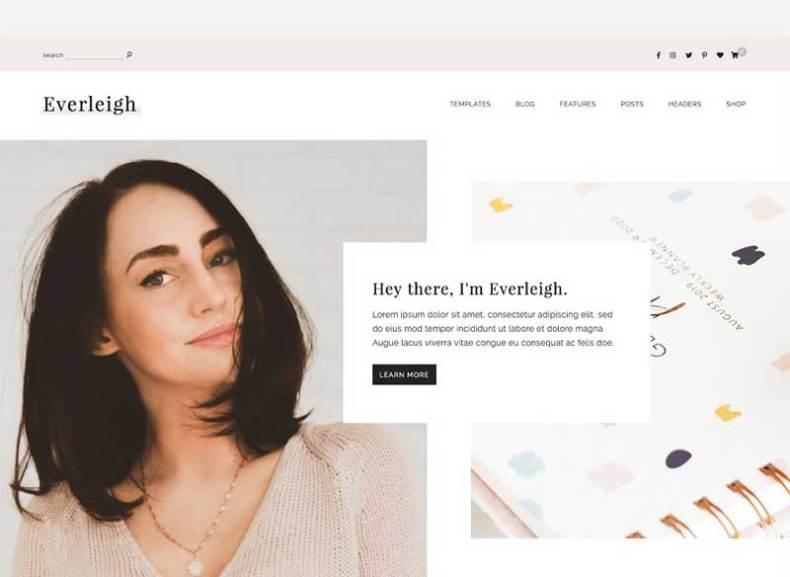 Everleigh - A Blog & Shop Theme