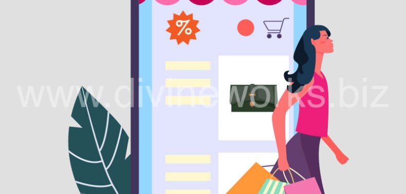 Download Free Online Mobile Shopping Vector by Divine Works
