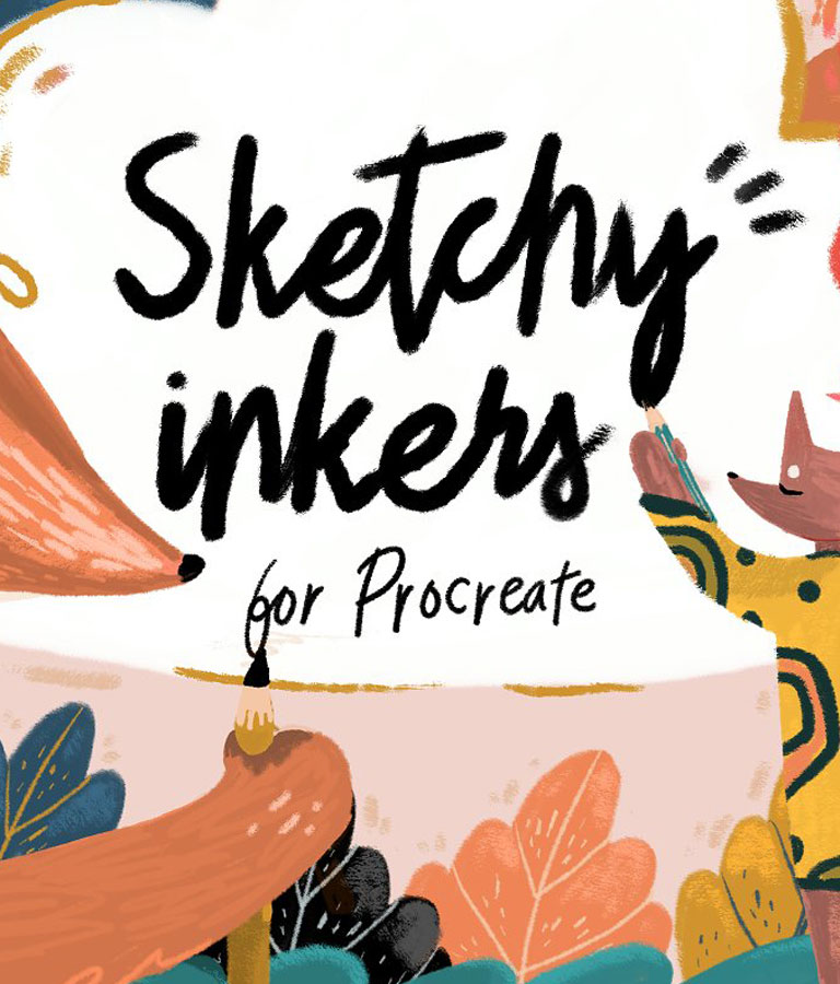 Sketchy Inkers Procreate Brushes