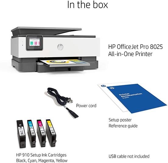 HP OfficeJet Pro 8025 All-in-One Wireless Printer