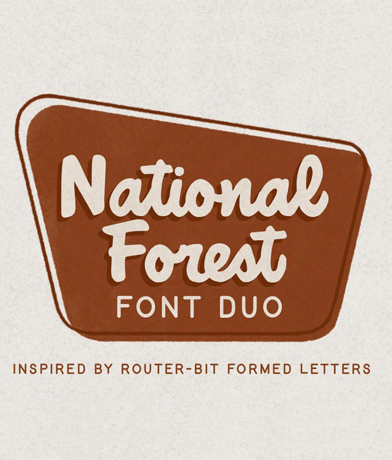 National Forest Font Duo
