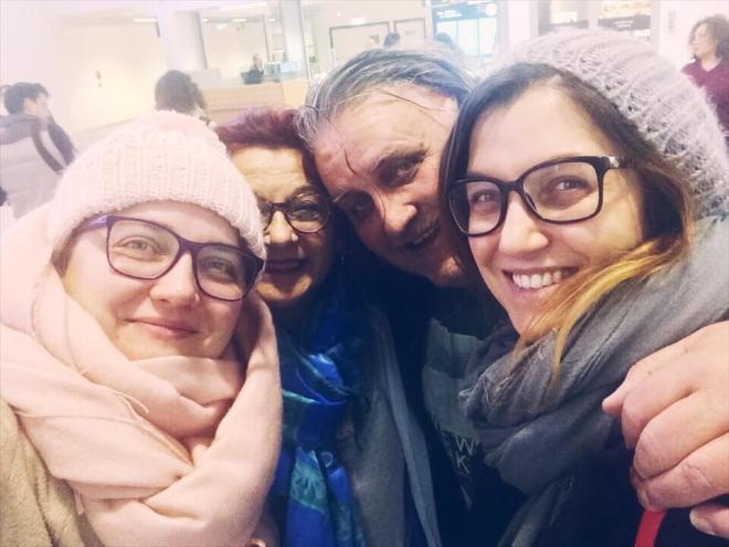 Abschied von der restlichen Divingfamily am Flughafen Wien
