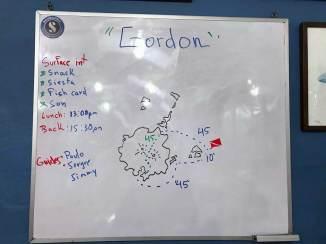 Briefing für Gordon Divespot