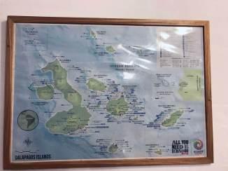 Karte von den Galapagos Inseln