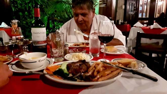 statt Langusten - Steaks!