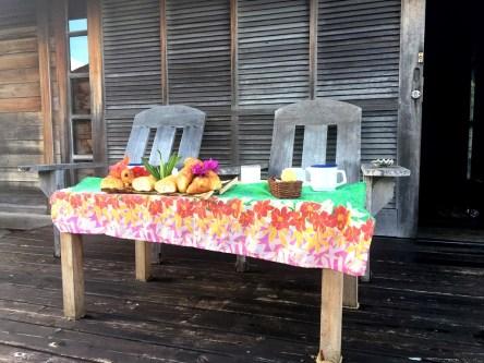 Frühstück am Balkon