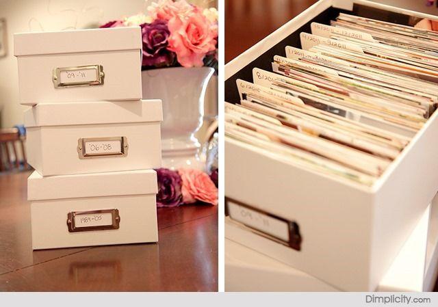 Como organizar fotografias {Blog Divirta-se Organizando}