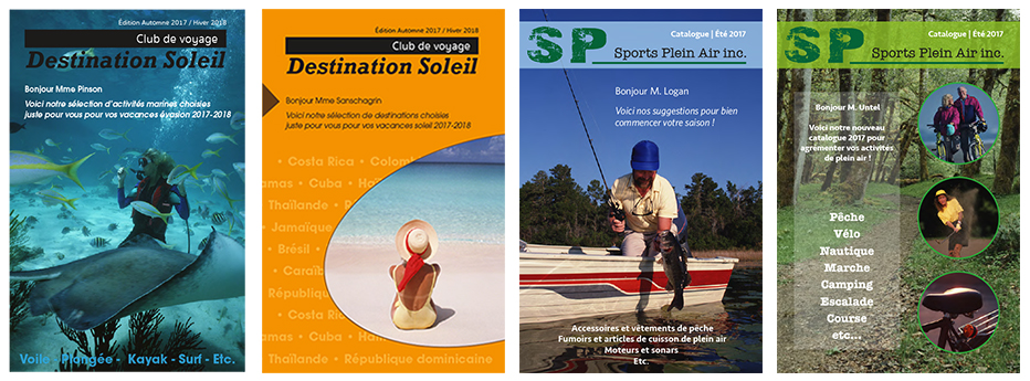 Brochures personalisées