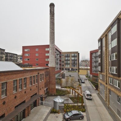 Smokestack Seattle Supply Laundry Building
