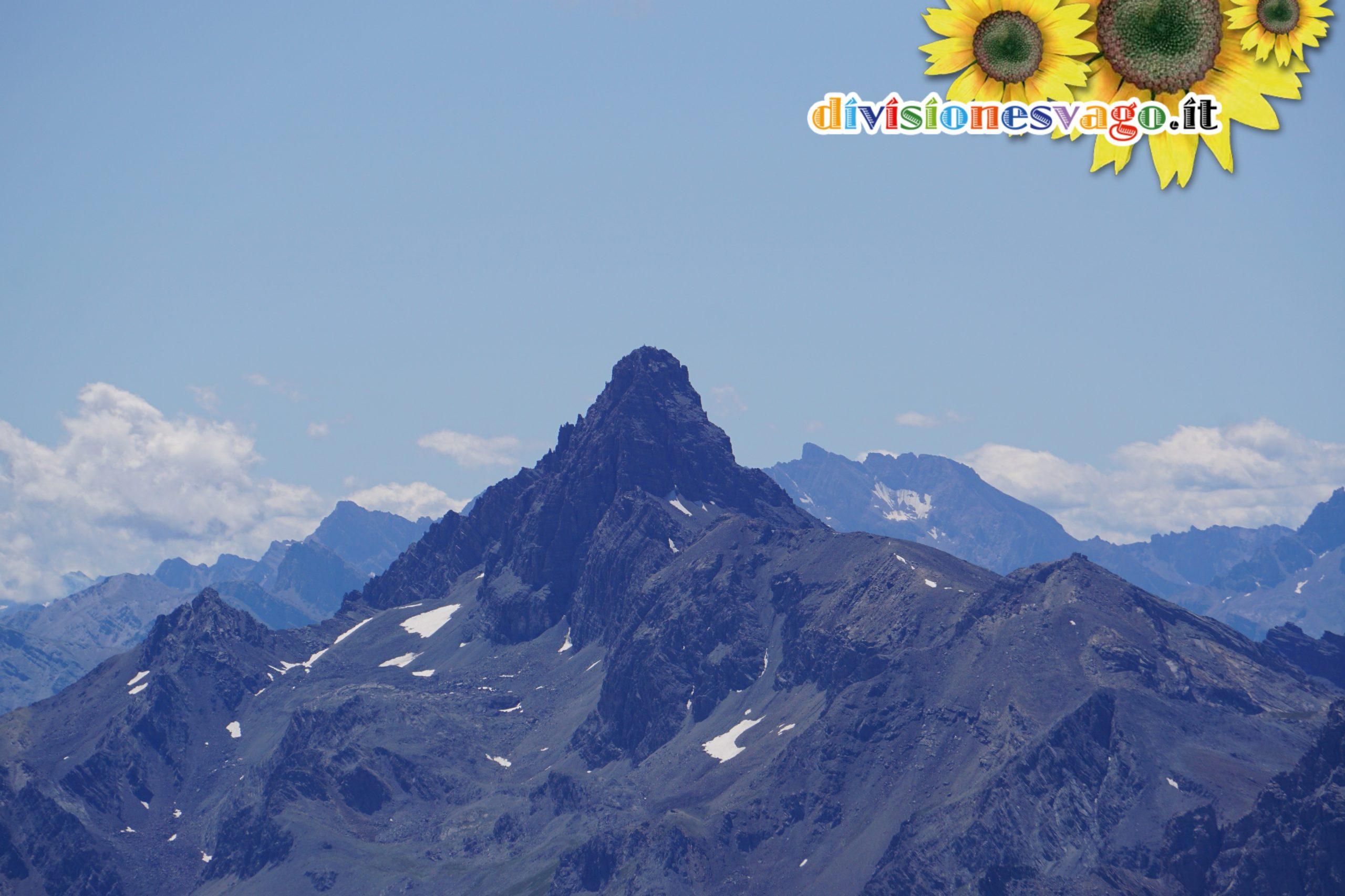 Pic de Rochebrune dalla cima del Monte Chaberton