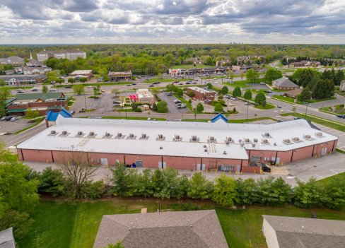 aerial photo commercial roof