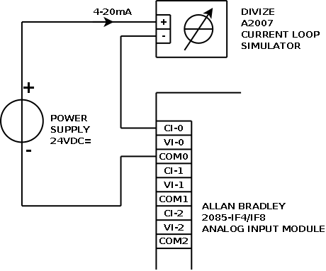2wire Switch Diagram Examples Current Loop Connection Divize Industrial Automation
