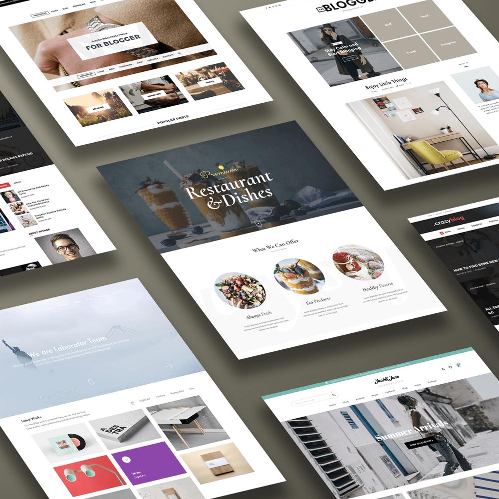 web design showcase mockup