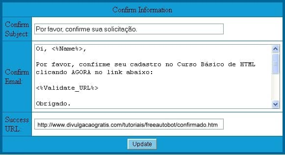 Freeautobot optin double confirmation confirmar