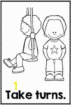 Good Manners Coloring Pages for Preschoolers