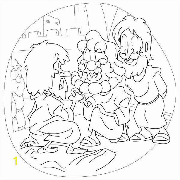 Lame Man Healed Coloring Page