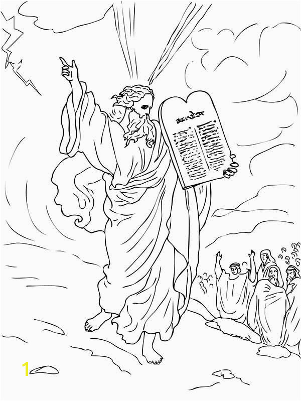 Moses and Joshua Coloring Pages