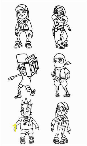 Subway Surfers Coloring Pages