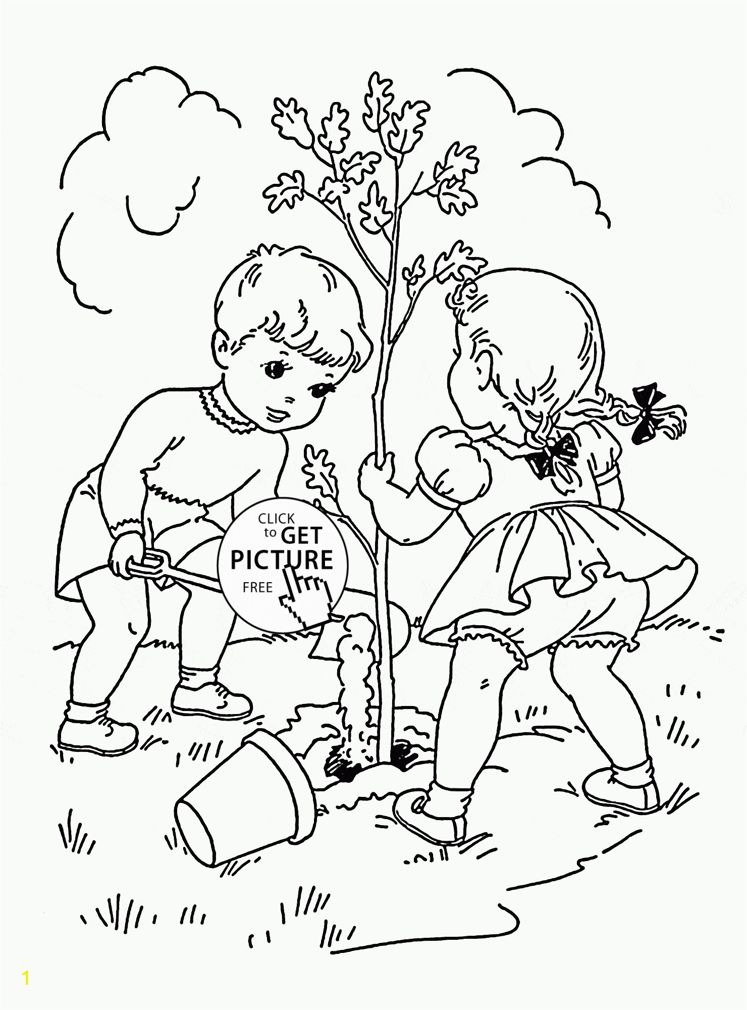 Online Spring Coloring Pages