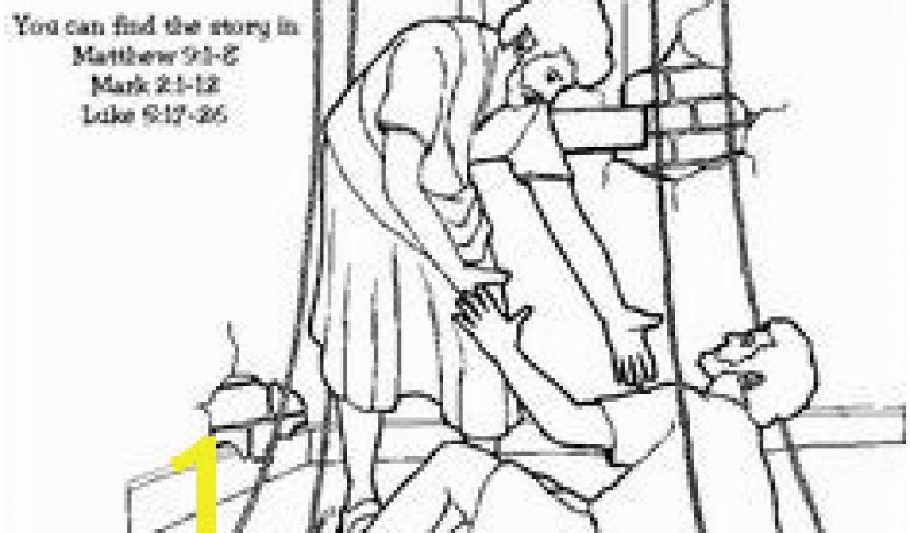 Jesus Heals A Paralyzed Man Coloring Page 35 Best Jesus