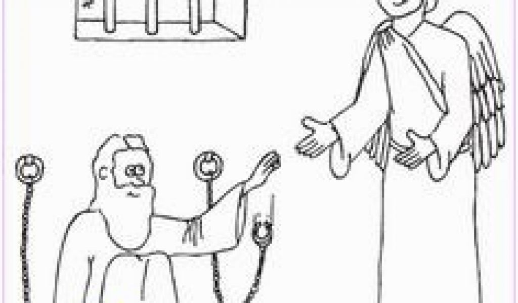 Peter and John In Jail Coloring Page 82 Best Peter Escapes