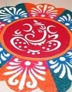 also ganesha rangoli design flower ganpati rh diwalifestival