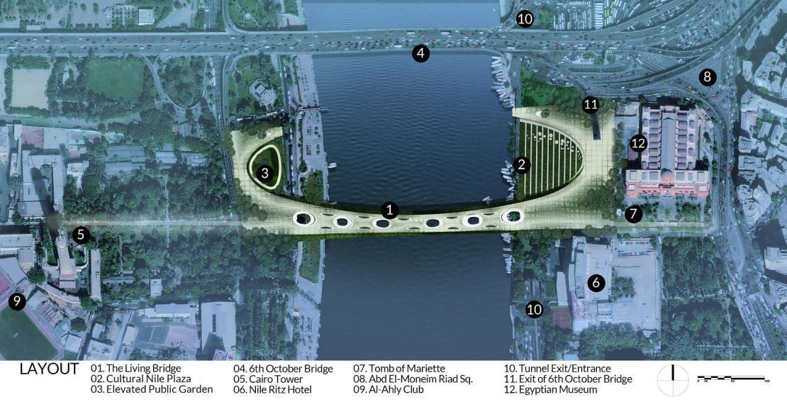 فريق مصري يفوز بمسابقة تصميم جسر للمشاة في القاهرة