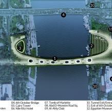 عناصر الموقع العام لجسر المشاة