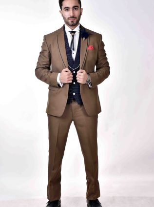 Three piece suit for men