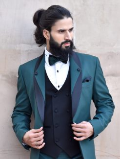 green three piece tuxedo