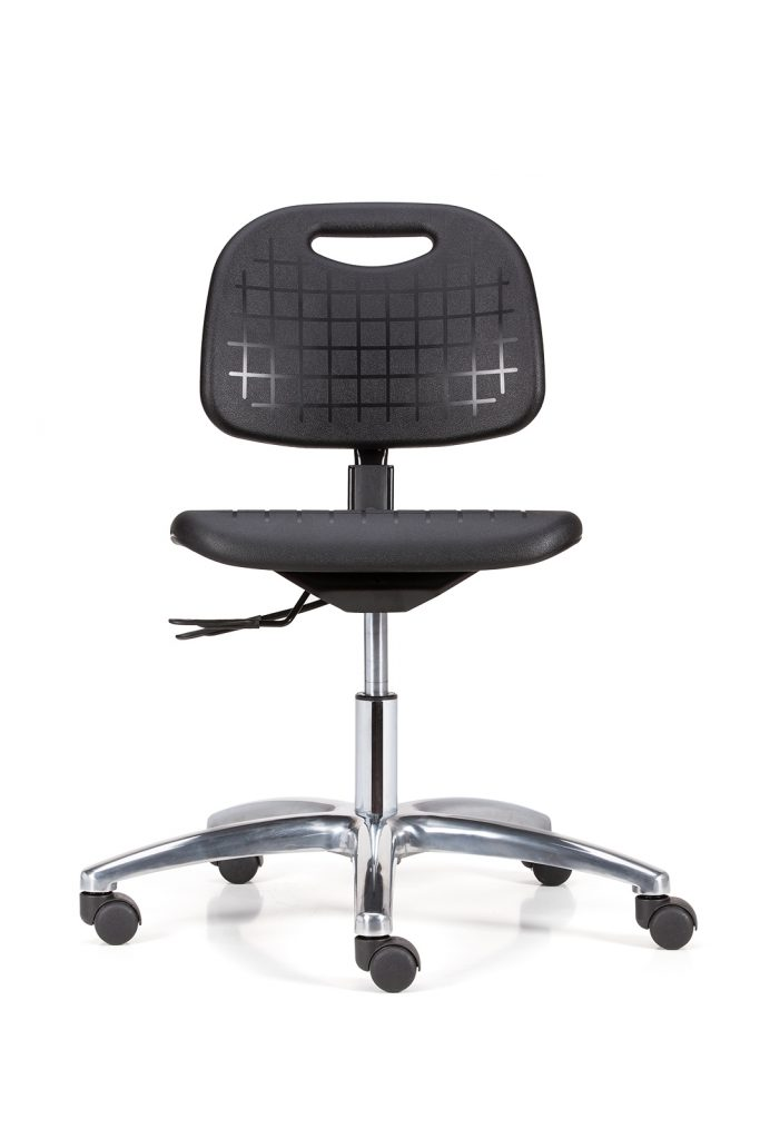 office chair levers child desk and set memphis pu asynchron 2 aluminium base diwar 50mm twin wheel castors