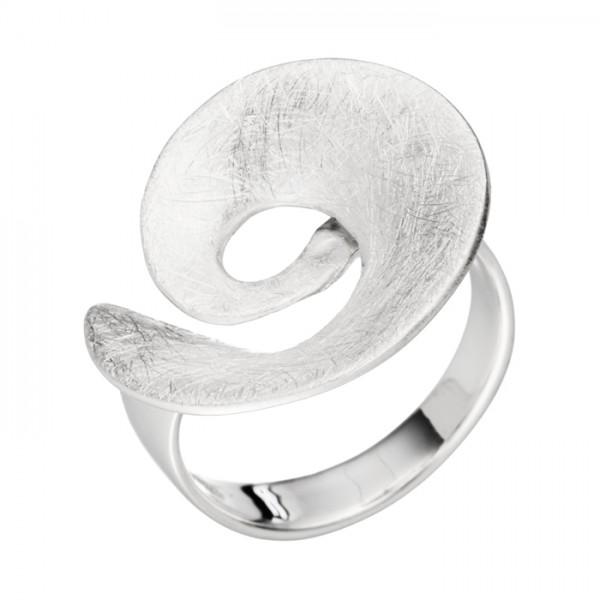 Preiswerter Silberring Dekor Spirale geeist