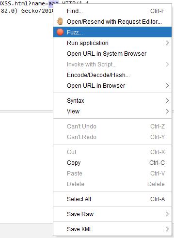 OWASP ZAP - przycisk fuzzowiania
