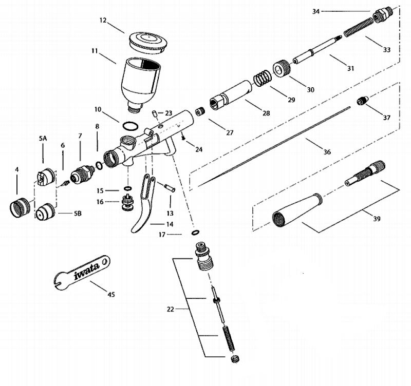 Iwata High Performance Airbrush Parts