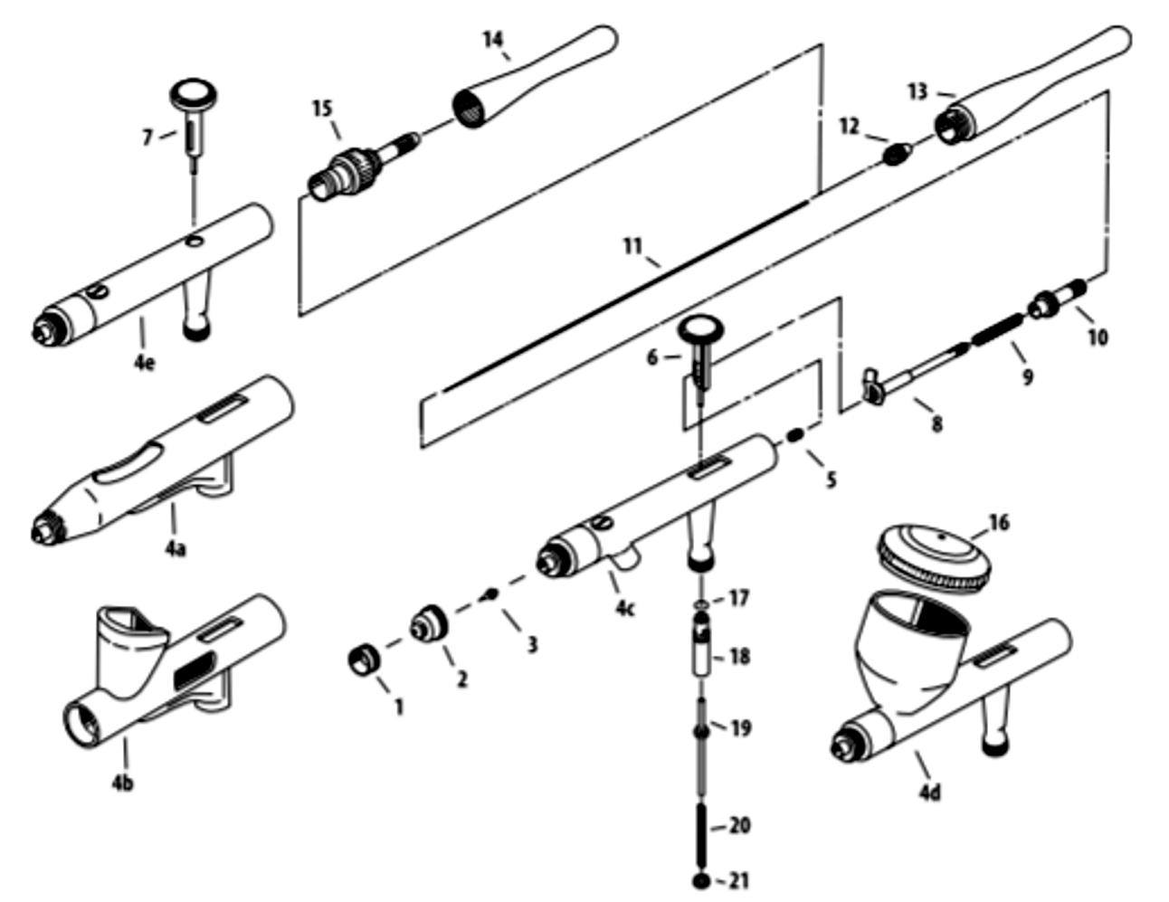 Iwata Revolution Series Parts List and Schematic