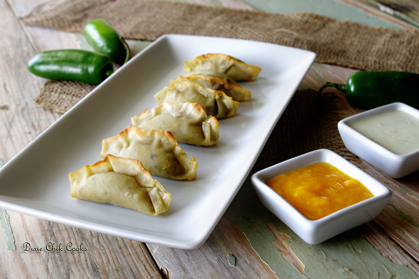 Jalapeno Popper Wontons with Two Dipping Sauces