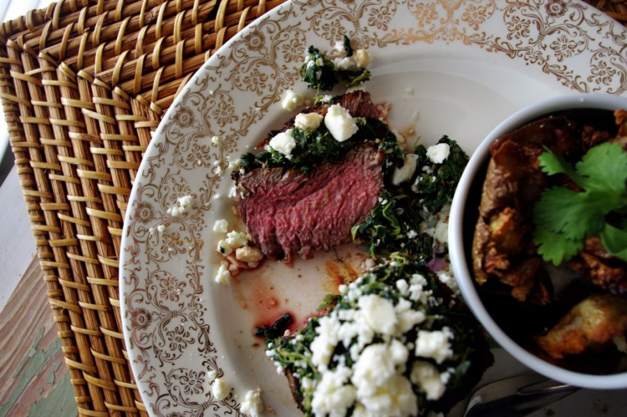 Spinach Feta Filet